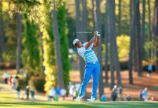 Rickie Fowler en en el hoyo No. 17 (cortesía Augusta National Golf Club)