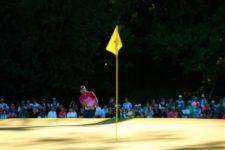 Sergio García en el hoyo No. 15 (cortesía Augusta National Golf Club)
