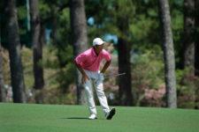 Stewart Hagestad en el hoyo No. 2 (cortesía Augusta National Golf Club)