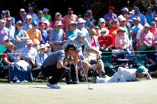 Emiliano Grillo en el green del hoyo 1 (cortesía Augusta National Golf Club)