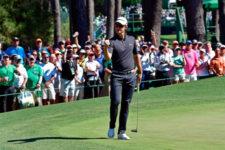 Justin Rose en el birdie del hoyo 6 (cortesía Augusta National Golf Club)