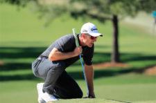 Justin Rose en el green del hoyo 9 (cortesía Augusta National Golf Club)