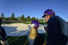 Emree Cameron y su padre (cortesía Augusta National Golf Club)