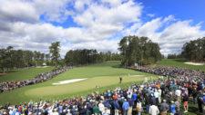 Phil Mickelson durante la primera ronda (cortesía Augusta National Golf Club)