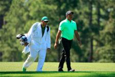 Jhonattan Vegas camina por el hoyo No. 14 durante la segunda ronda de práctica (cortesía Augusta National Golf Club)