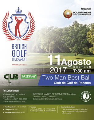 British Golf Tournament - 11 de Agosto, Club de Gold de Panamá