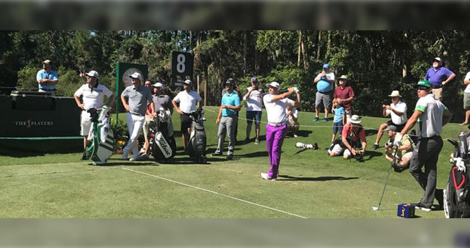 Buen día de entrenamiento con García, Cabrera Bello y John Rahm practicando juntos