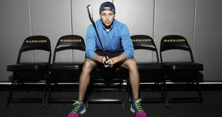 Curry inspirado en encestar profesionalmente la bola blanca
