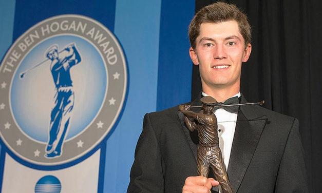 Maverick McNealy, ganador en 2017 del prestigioso Ben Hogan Award