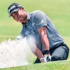 Hideki Matsuyama en el hoyo 9 (cortesía Keyur Khamar - PGA TOUR)