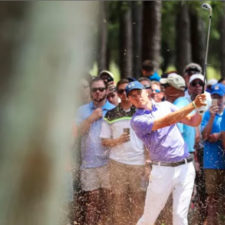 Jordan Spieth en el hoyo 6 (cortesía Warren Little - Getty Images)