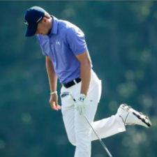 Jordan Spieth en el hoyo 14 (cortesía David Cannon - Getty Images)