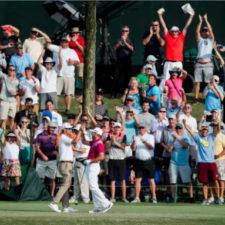 Sergio Garcia celebrando su hoyo en uno (cortesía Jamie Squire - Getty Images)