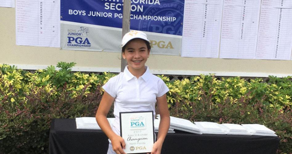 Ariana Carvalho gana el North Florida Jr PGA Championship