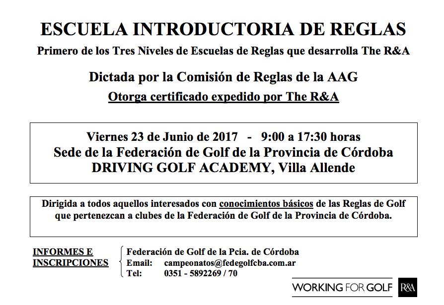 Córdoba recibe a la Escuela Introductoria de Reglas Nivel 1