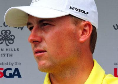 Jordan Spieth durante la 3ra ronda del 11º US Open