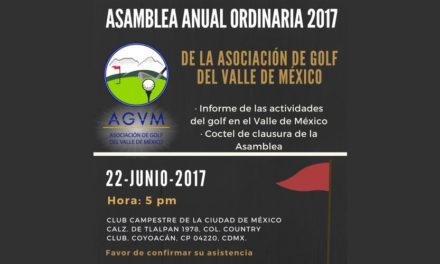 Invitación a la Asamblea Anual de la Asociación de Golf del Valle de México
