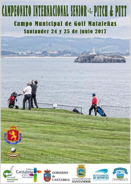 Santiago Izaguirre y María Tapia, líderes en el Campeonato Internacional de España Senior de Pitch & Putt 2017