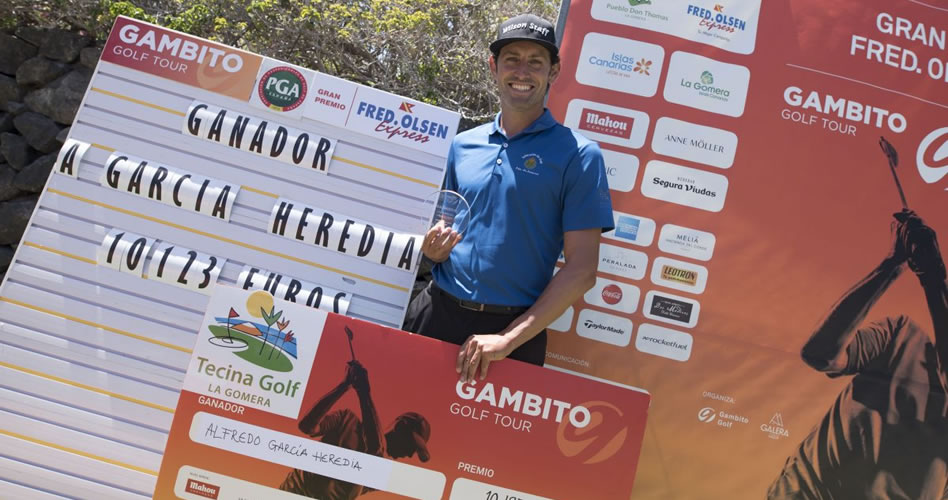 Alfredo García Heredia se corona en Tecina Golf
