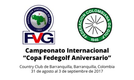 """Campeonato Internacional """"Copa Fedegolf Aniversario"""""""
