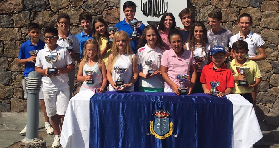 Participantes del Campeonato de Canarias Juvenil de Golf