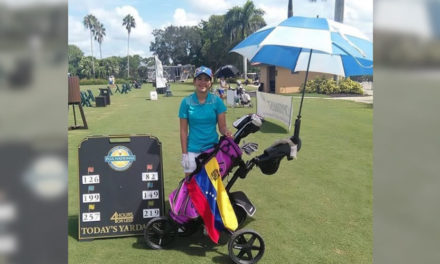 Lucía Ramírez esta semana en el Optimist International Junior Golf Championships