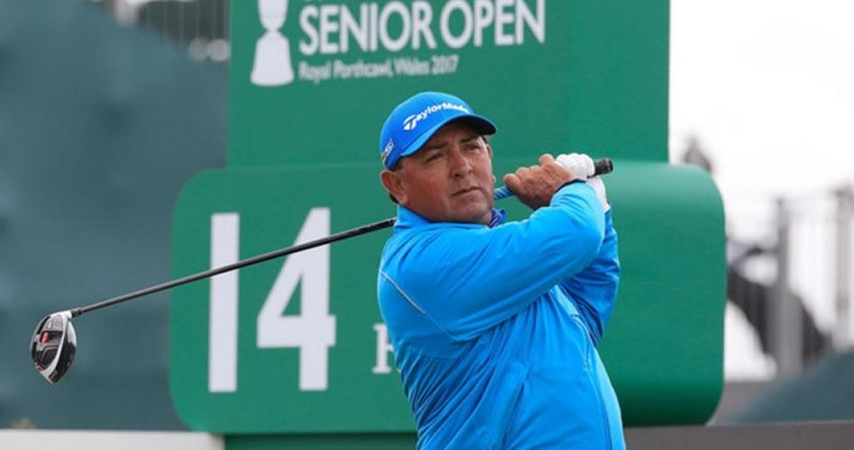 Molina brilla al ubicarse segundo en un día con condiciones brutales en el Senior Open Championship