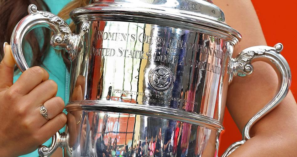 El trofeo del Us Women's Open (cortesía Golf Channel)