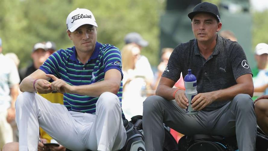Justin Thomas y Rickie Fowler (cortesía Sporting News)