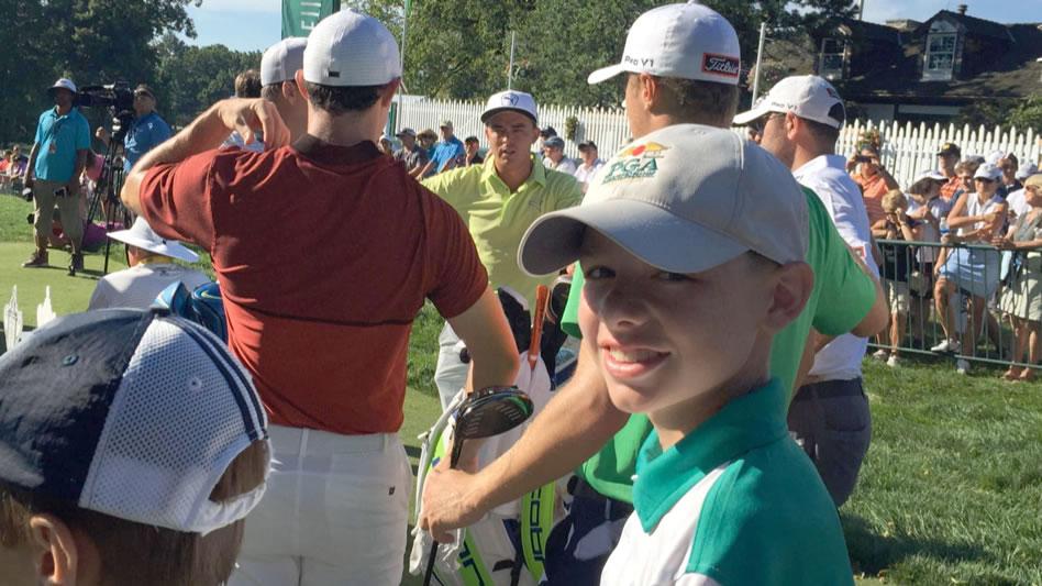 Las oraciones, el putt y McIlroy en la lucha por la vida de Traden  (cortesía Golf Channel)