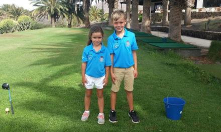 Oscar Schulz y Alejandro Santana, dominaron la IV Prueba del Circuito Infantil de Golf