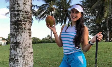 Poner el cuerpo a favor del golfista