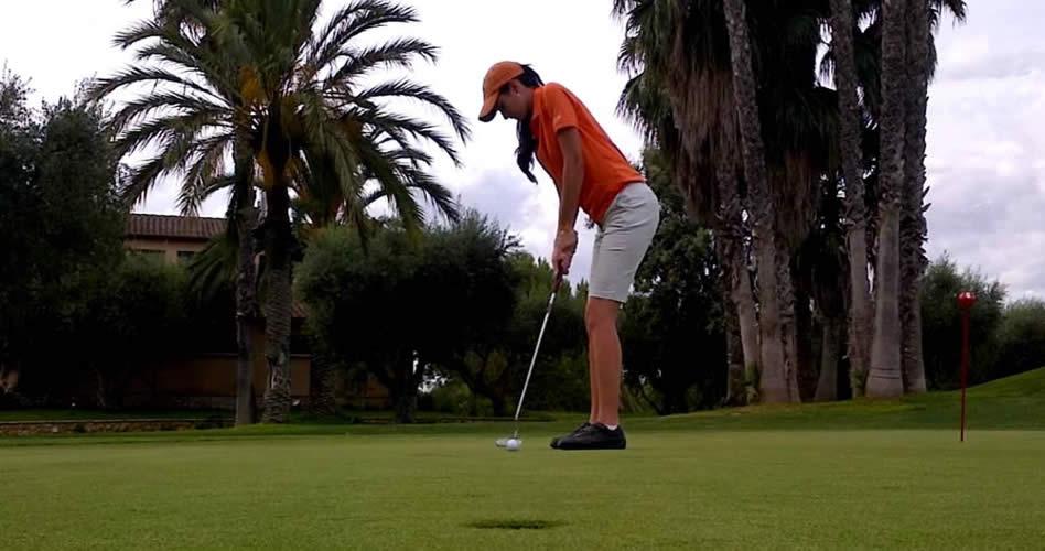 Profesional venezolana Alazne Urizar participando en el Q-School del LPGA