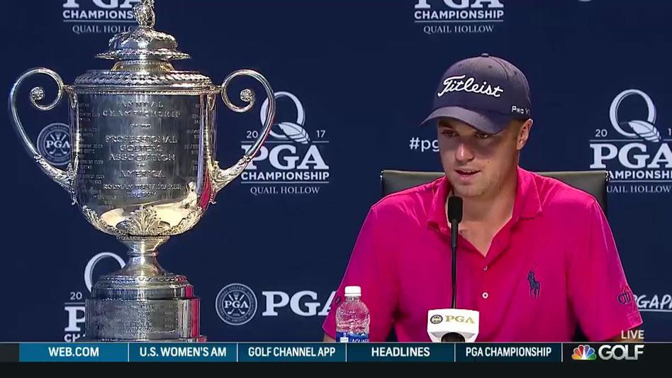 Justin Thomas (cortesía Golf Channel)