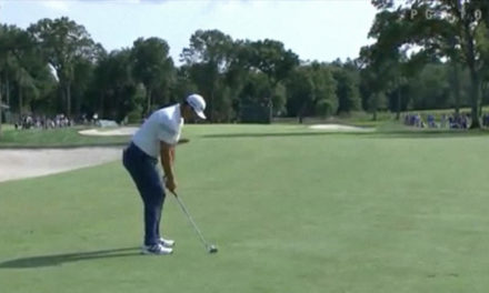 Video, Jon Rahm también quiere ganar en Nueva York. Golpazo y birdie del vasco desde 128 mts