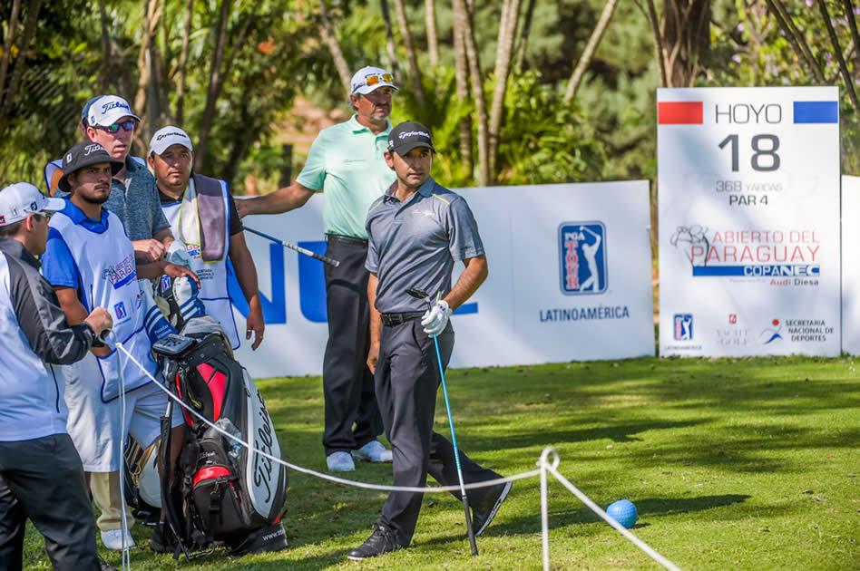 Los locales Carlos Franco y Fabrizio Zanotti fueron la atracción principal en el Abierto del Paraguay Copa NEC presentado por Audi Diesa / Gentileza: Enrique Berardi/PGA TOUR