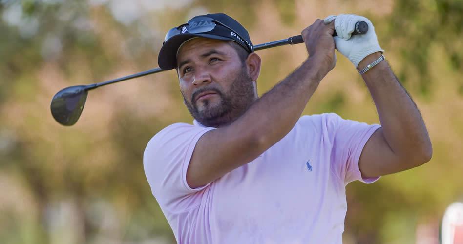 """El """"Camarón"""" Rodríguez (MEX) trepó a la cima del leaderboard en el Abierto del Paraguay Copa NEC presentado por Audi Diesa / Gentileza: Enrigue Berardi/PGA TOUR"""
