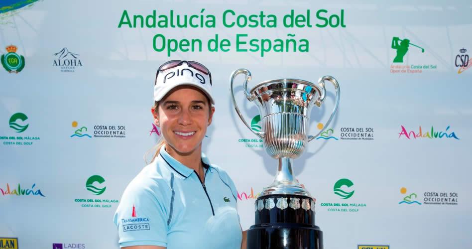 Azahara Muñoz defenderá su histórico título en el Andalucía Costa del Sol Open de España Femenino