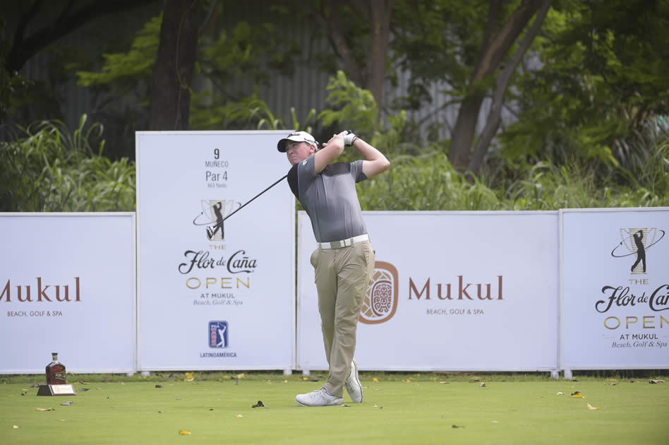 TOLA, NICARAGUA - 31 AGO: El estadounidense Nick Palladino durante la primera ronda del Flor de Caña Open, úndecimo de la temporada 2017 de PGA TOUR Latinoamérica que se disputa en el campo de golf de Mukul Beach, Golf and Spa (Enrique Berardi/PGA TOUR)