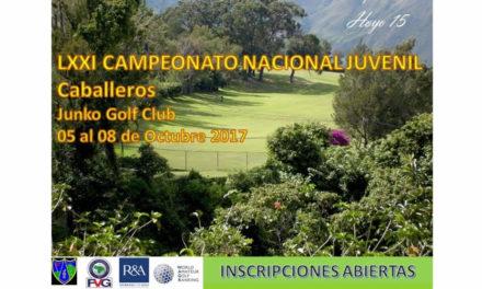 FVG abre inscripciones para el Campeonato Nacional Juvenil