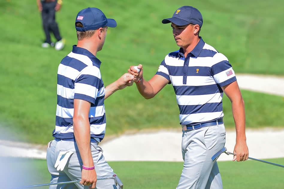 Rickie Fowler y Justin Thomas (cortesía Ten Golf)