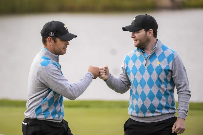 Branden Grace y Louis Oosthuizen (cortesía Golf Digest)