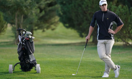 Manuel Ballesteros, primer líder del Campeonato PGA en Riocerezo