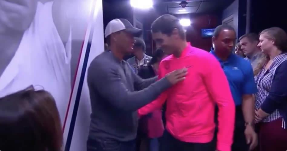 """Rafael Nadal tras recibir el apoyo de Woods en el US Open de tenis: """"Lo más cercano que tengo a un ídolo es Tiger"""""""