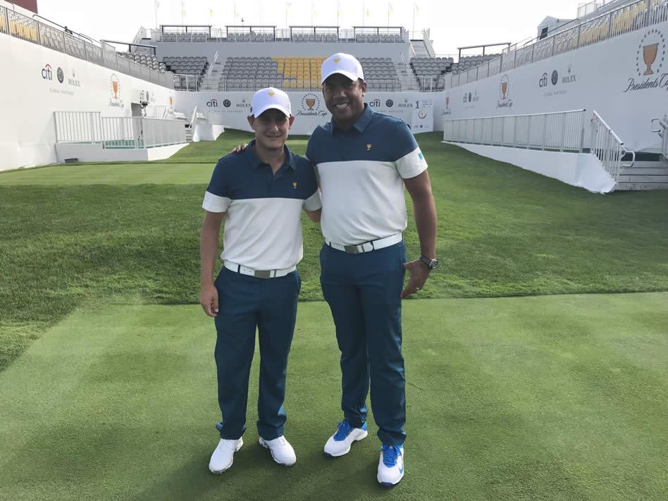 Emiliano Grillo y Jhonattan Vegas (cortesía Prensa PGA TOUR )