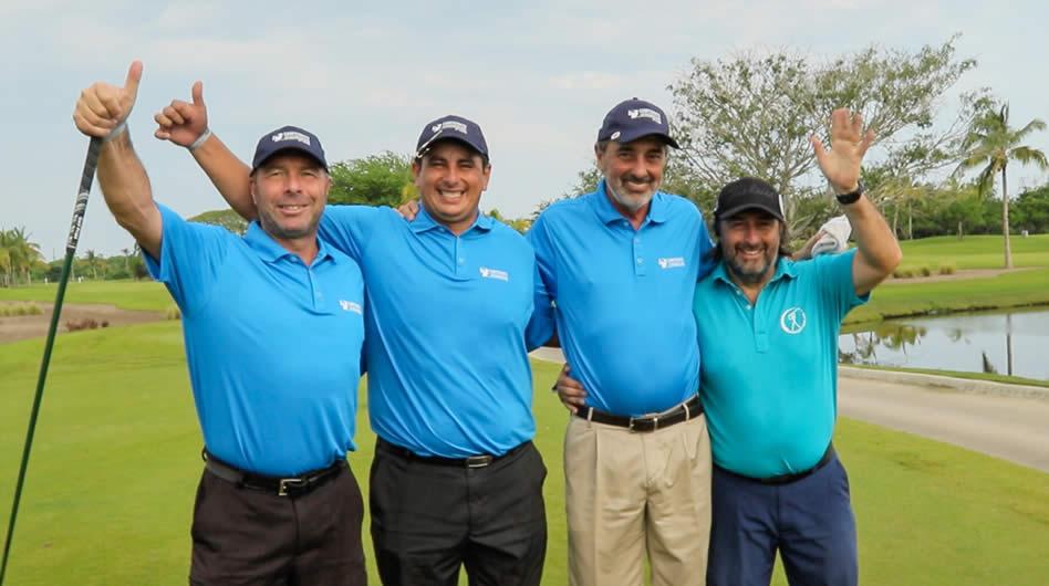 La camaradería se respira en esta Final Internacional del Campeonato Latinoamericano de Golf que se juega en el exclusivo Vidanta Nuevo Vallarta, México