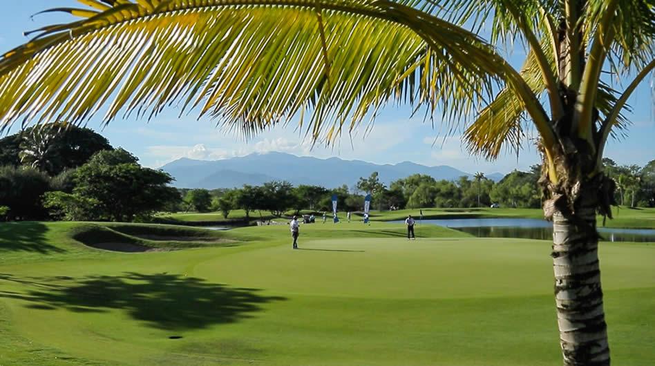 Los jugadores encontraron un gran desafío en campo diseñado por Greg Norman en esta primera ronda del 10mo Campeonato Latinoamericano de Golf