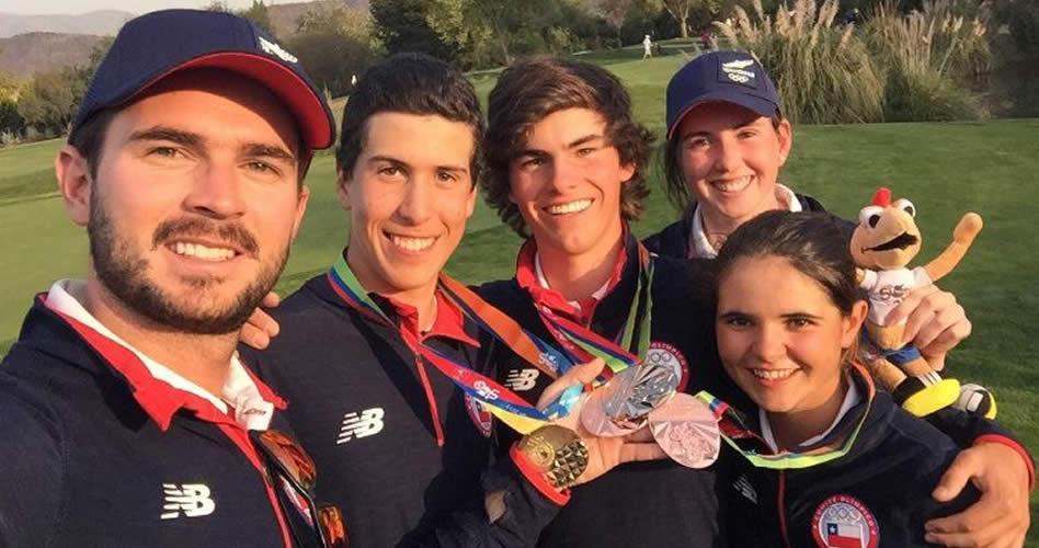 Chile y Argentina se llevaron tres medallas de Golf en los II Juegos de la Juventud de Chile