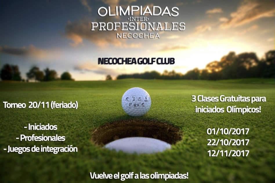 El Golf es parte de las Olimpíadas Profesionales en Necochea Golf Club