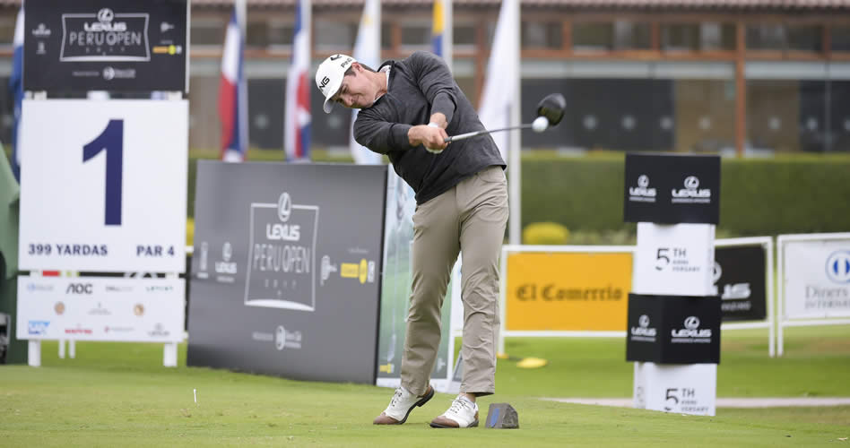 LIMA, PERU - OCTOBER 20: Charlie Saxon of the U.S during the second round of the PGA TOUR Latinoamerica Lexus Peru Open Presentado por Diners Club at Los Inkas Golf Club on October 20, 2017 in Lima, Peru. (Enrique Berardi/PGA TOUR)